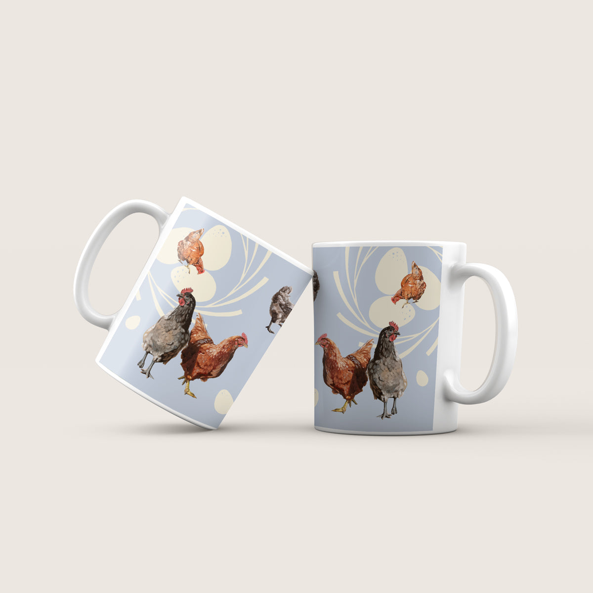 Chicken and egg mug