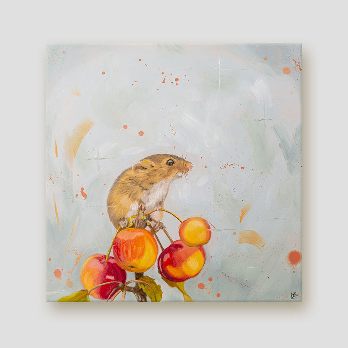 Cherry picked harvest mouse canvas