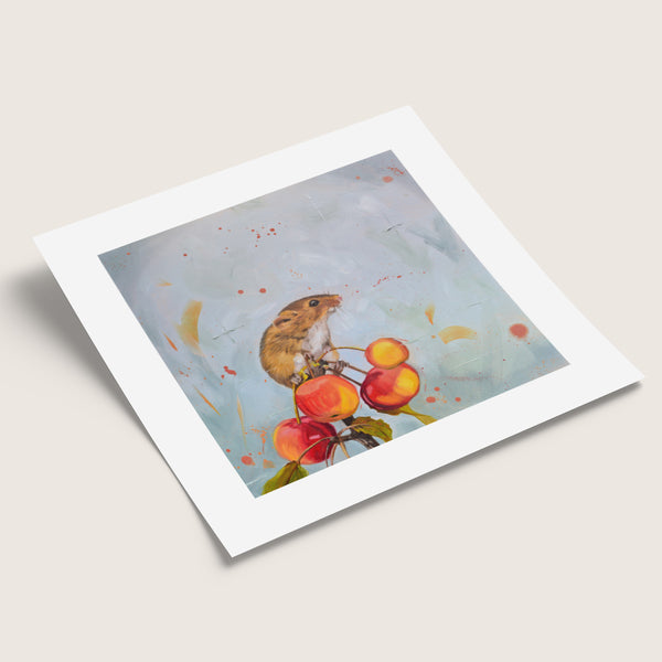 Cherry Picked - Harvest Mouse Print