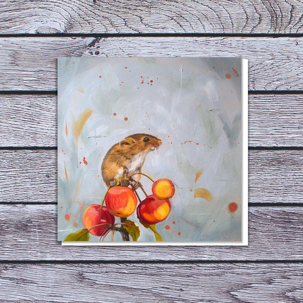 Harvest mouse card | blank art card