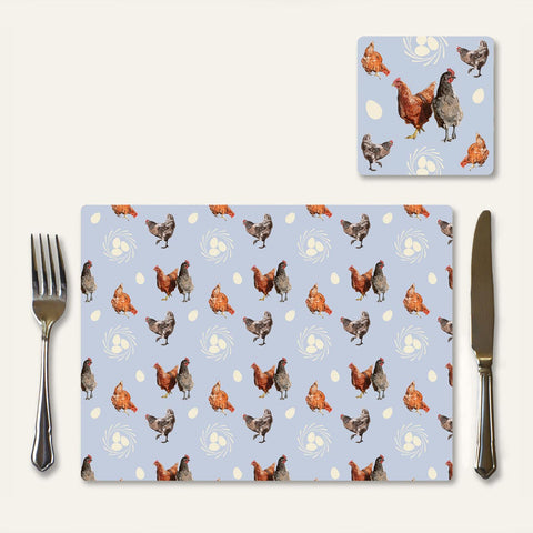 Chicken and egg place mat