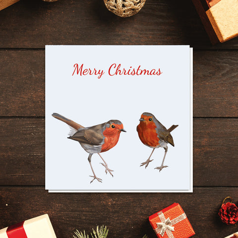 Robins Christmas card