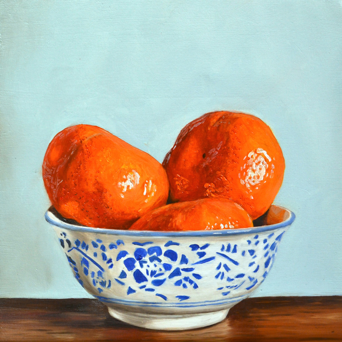 Bowl of clementines - limited edition print