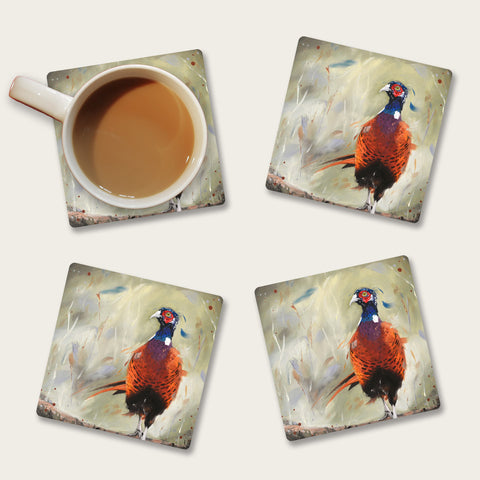 Dashing - pheasant coaster
