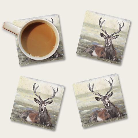 Dignity - stag coaster