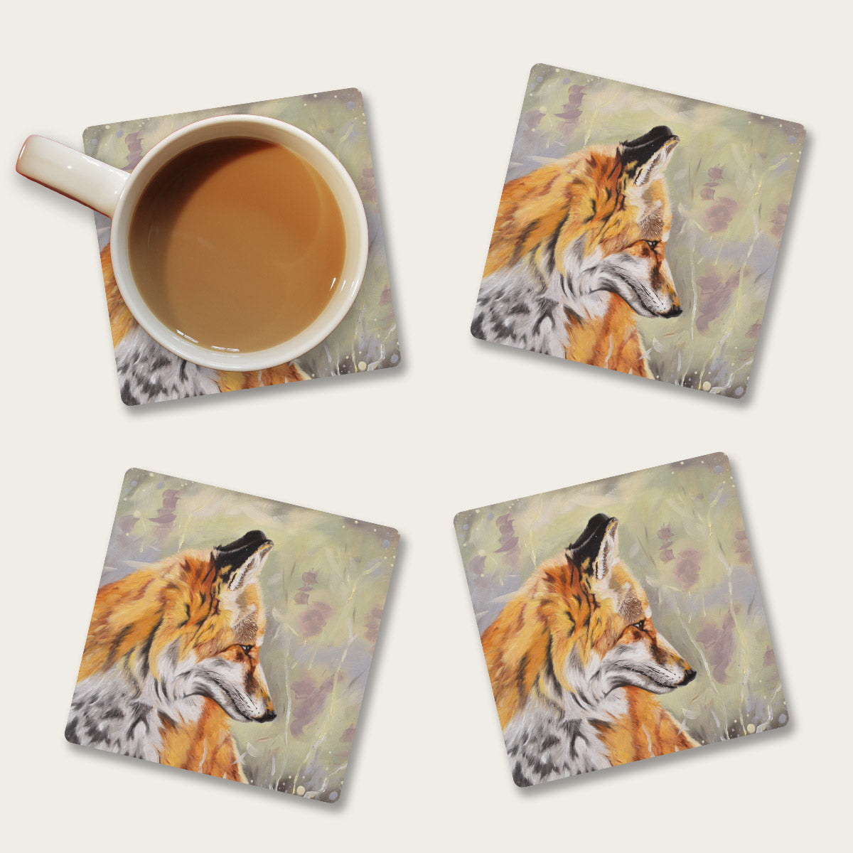 Fox coaster set