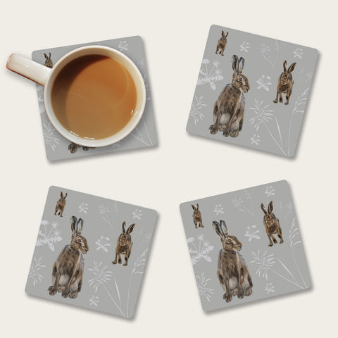 Hares in the meadow coaster