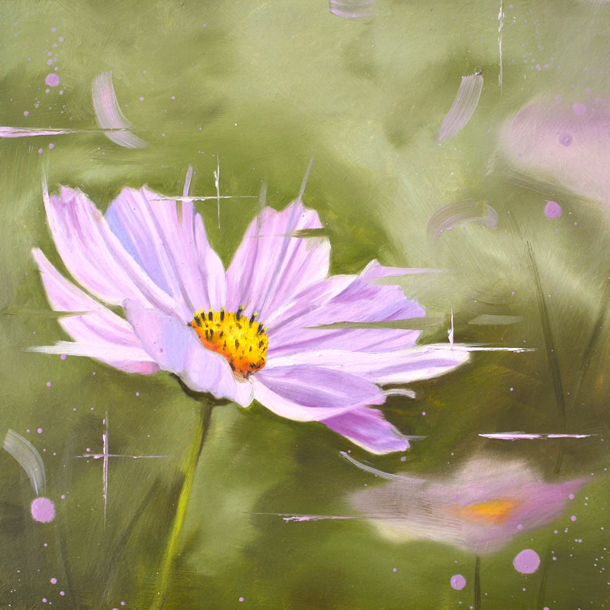 Cosmos - original oil painting