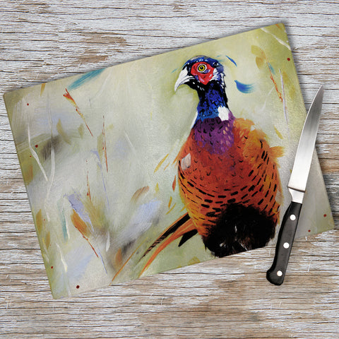 Dashing Pheasant Chopping Board