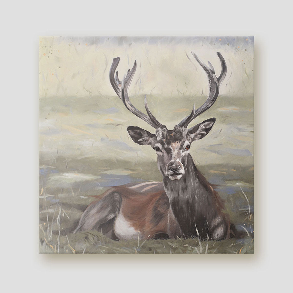 Dignity stag canvas art