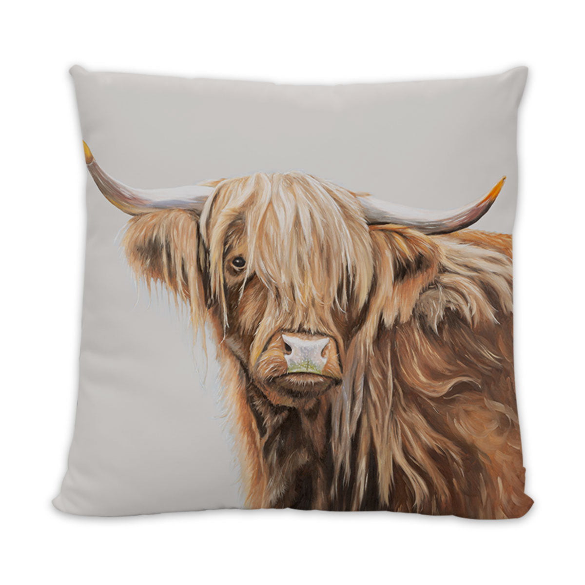 Highland Cow Cushion - light