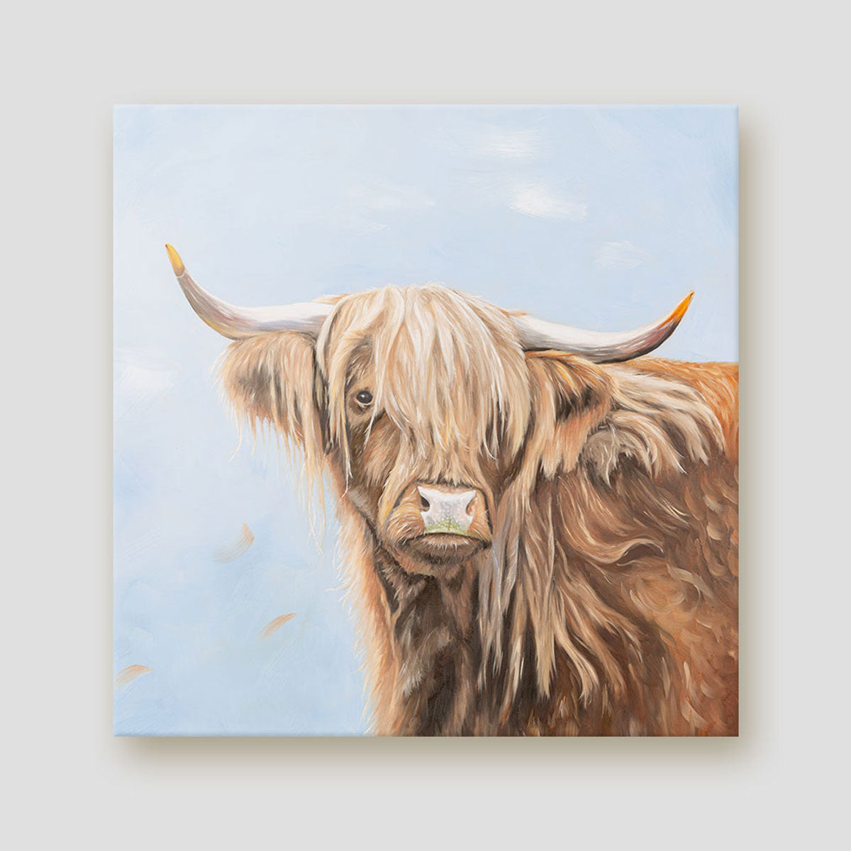 Fern Highland cow canvas
