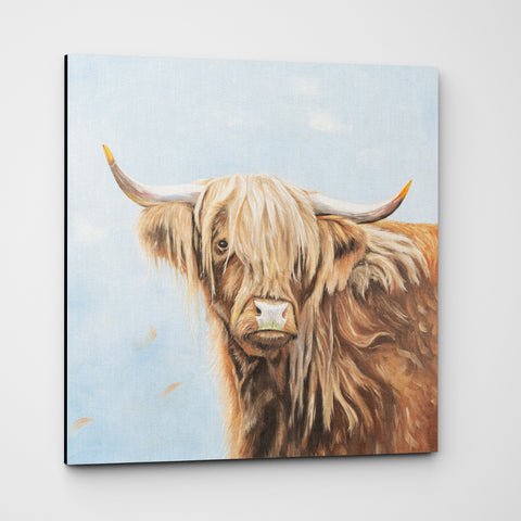 Fern - Highland cow Premium Canvas Print