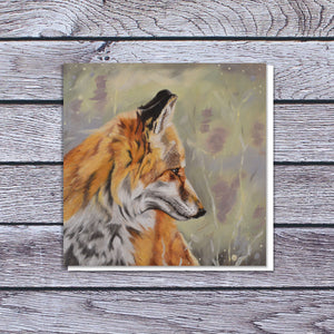 Fox in the heather card