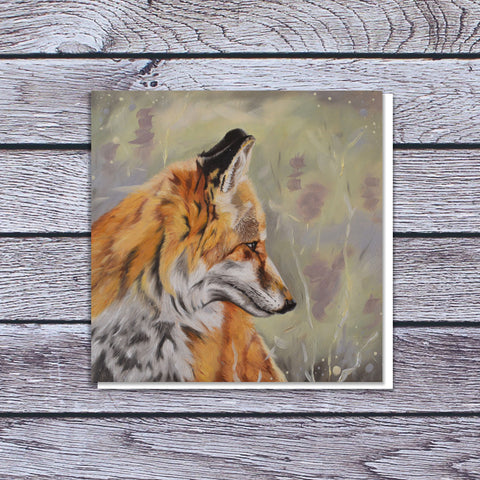 Precious - Fox in the heather card