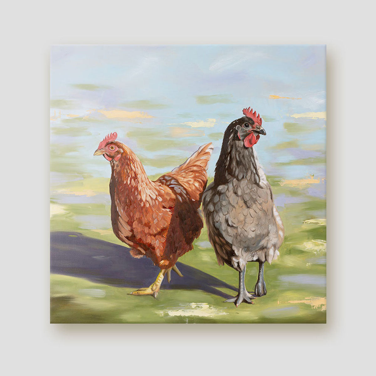 Girls Day Out chicken canvas