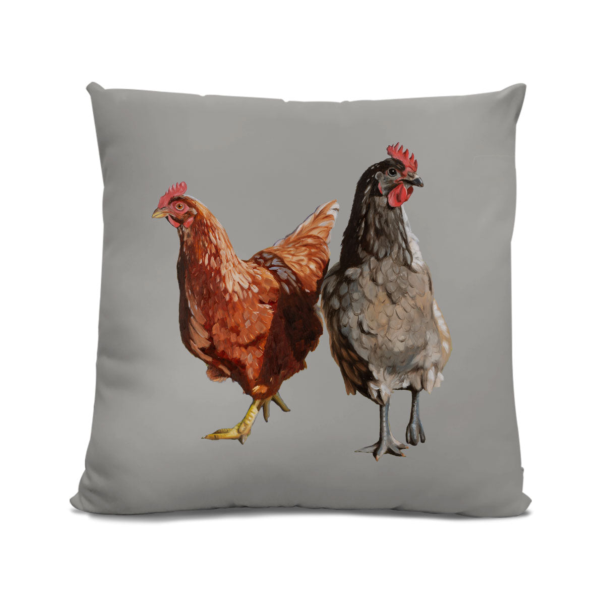 Chicken cushion grey