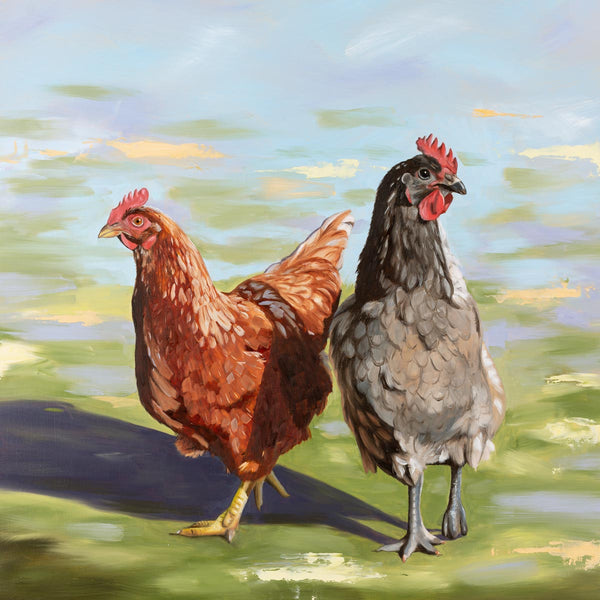 Girls Day Out chicken painting