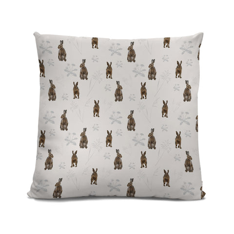 Hares in the meadow Cushion LIGHT
