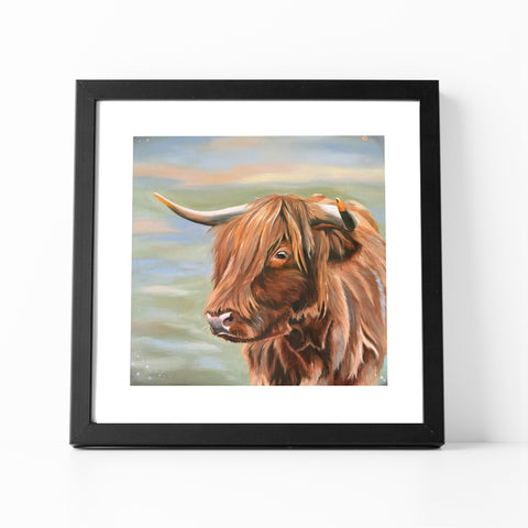 Heather - Highland Cow Fine Art Print