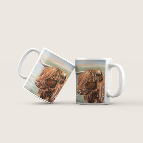 Heather - Highland Cow Ceramic Mug