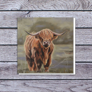 Highland cow card
