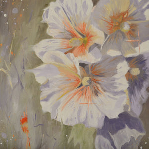Hollyhocks - limited edition print