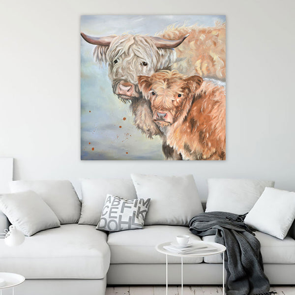 Lumi and Floss Premium Canvas Print