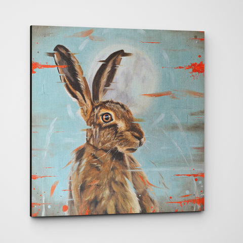 Hare canvas - Moonstruck