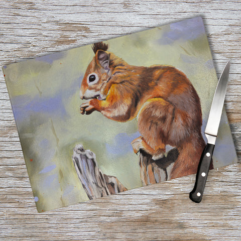 Red squirrel chopping board