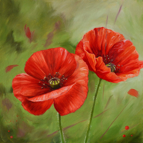 Pair of poppies art print