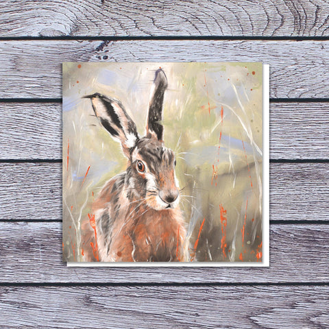 Pepper - Hare in the long grass card