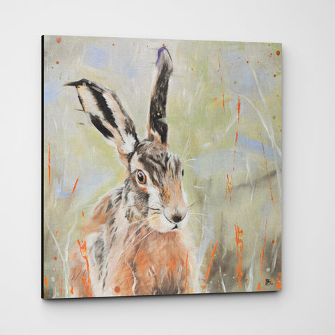 Pepper hare canvas print