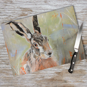 Pepper - Hare In The Long Grass Chopping Board
