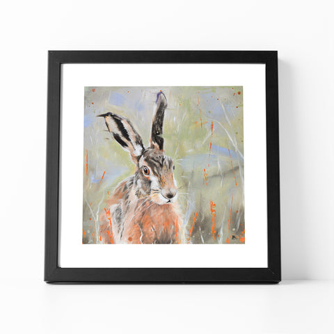 Pepper - Hare In The Long Grass Fine Art Print