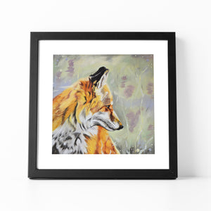 Precious - Fox In The Heather Fine Art Print