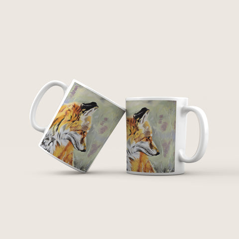 Precious - Fox In The Heather Ceramic Mug