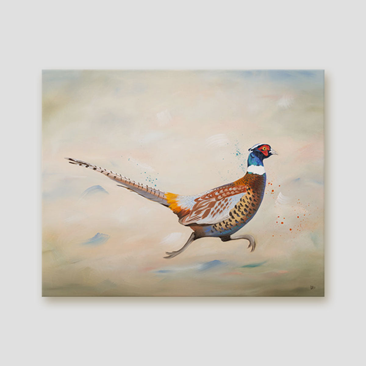 Running pheasant canvas