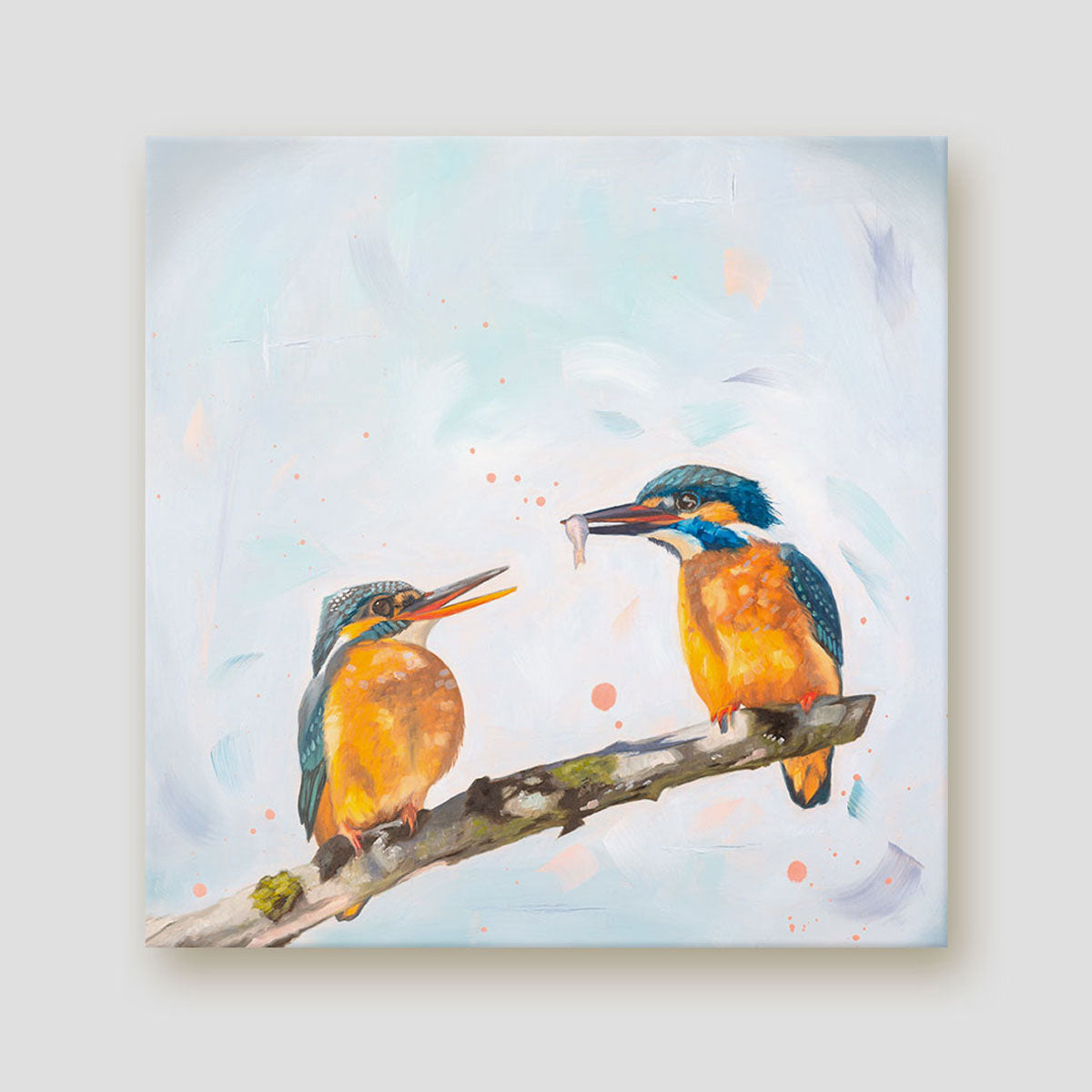 The Gift Kingfisher canvas