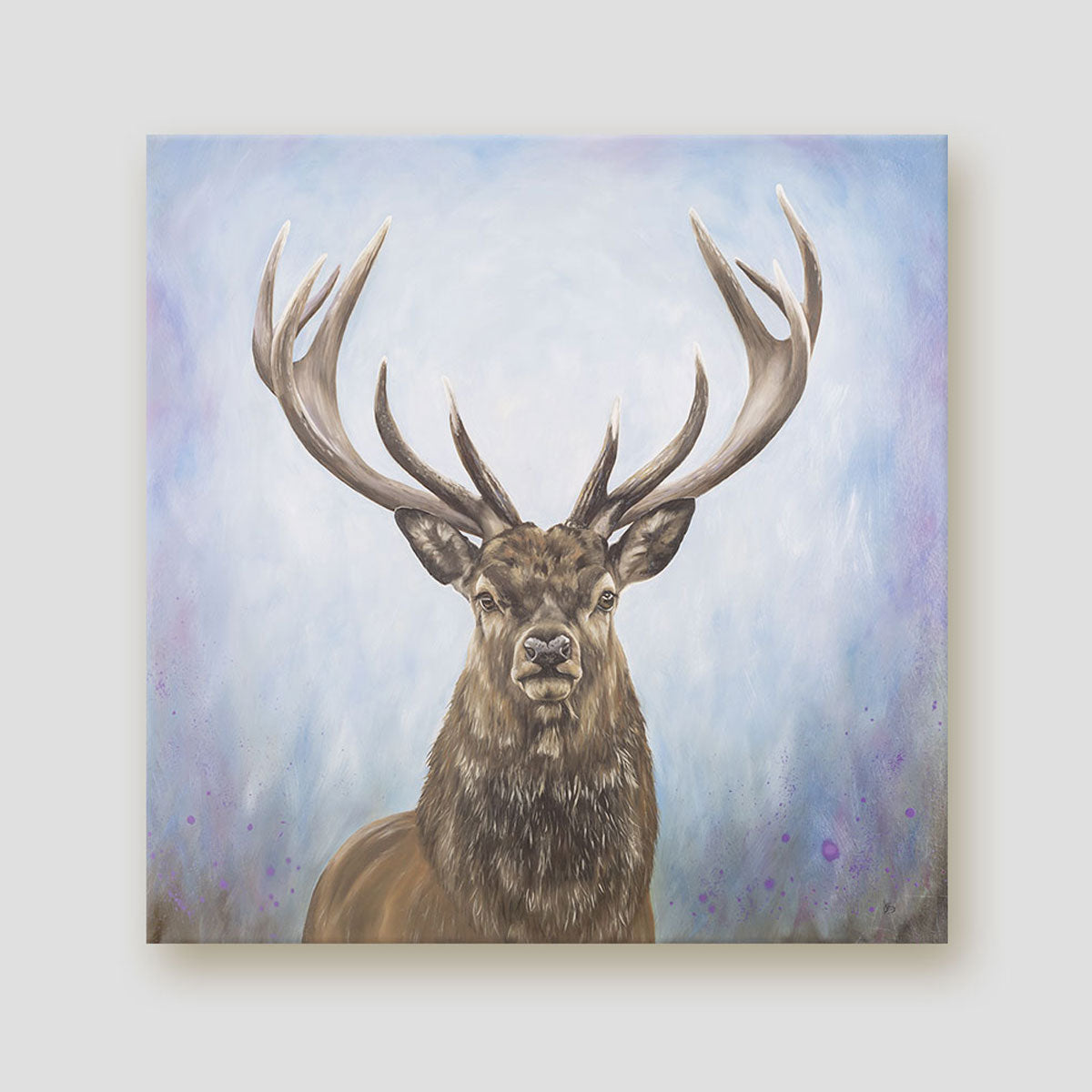 The Protector stag canvas