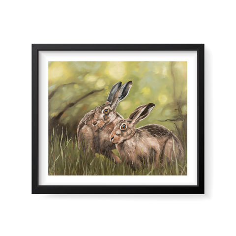 Together by Twilight - Hares print