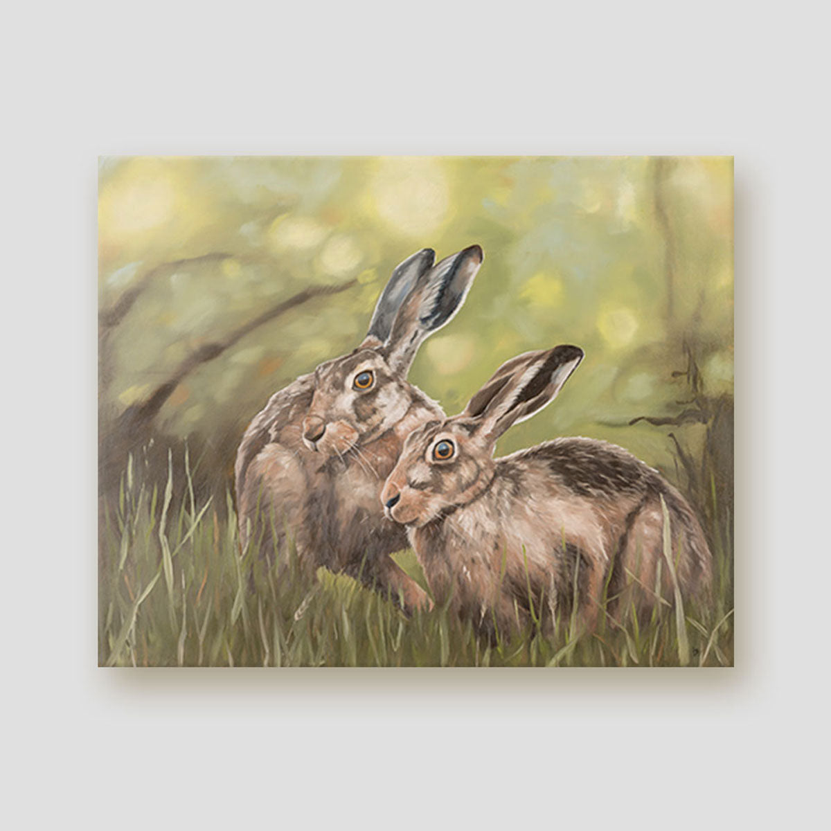 Together by Twilight hares canvas