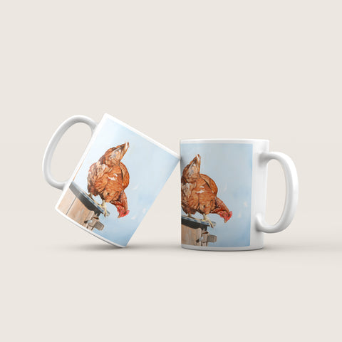Don't Chicken Out Ceramic Mug