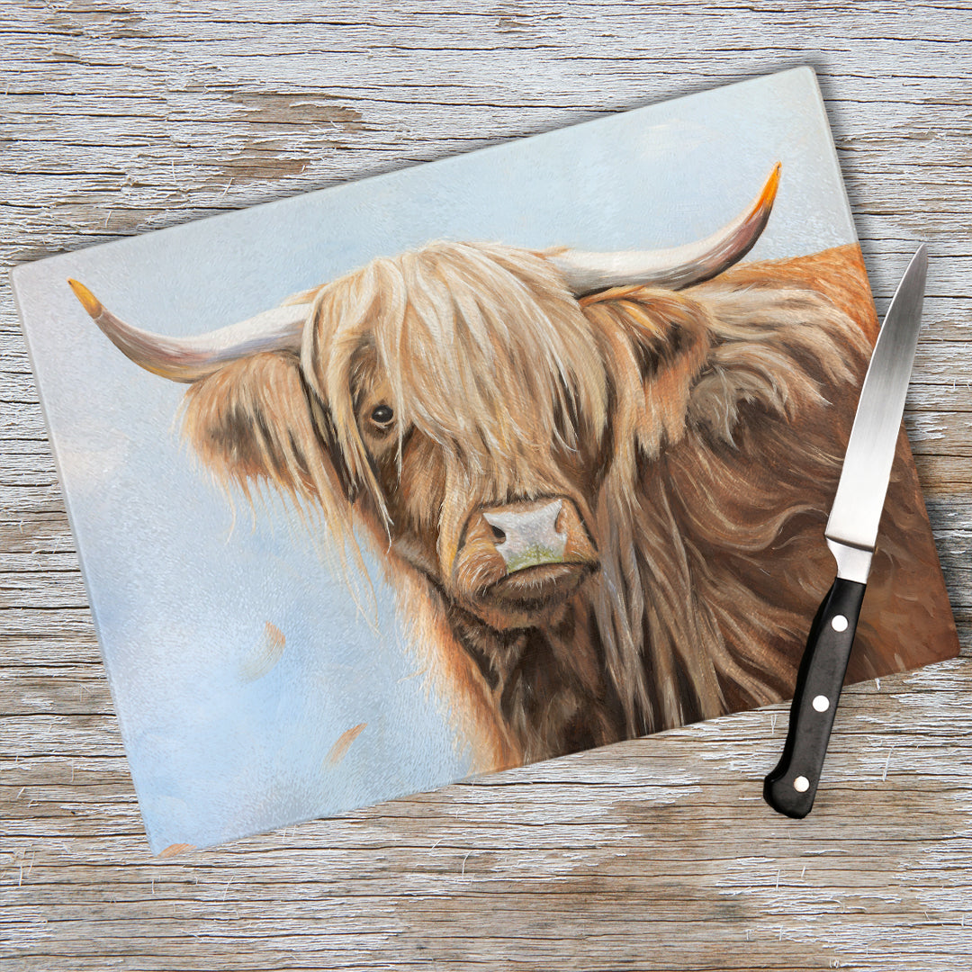 Fern - Highland cow Chopping Board