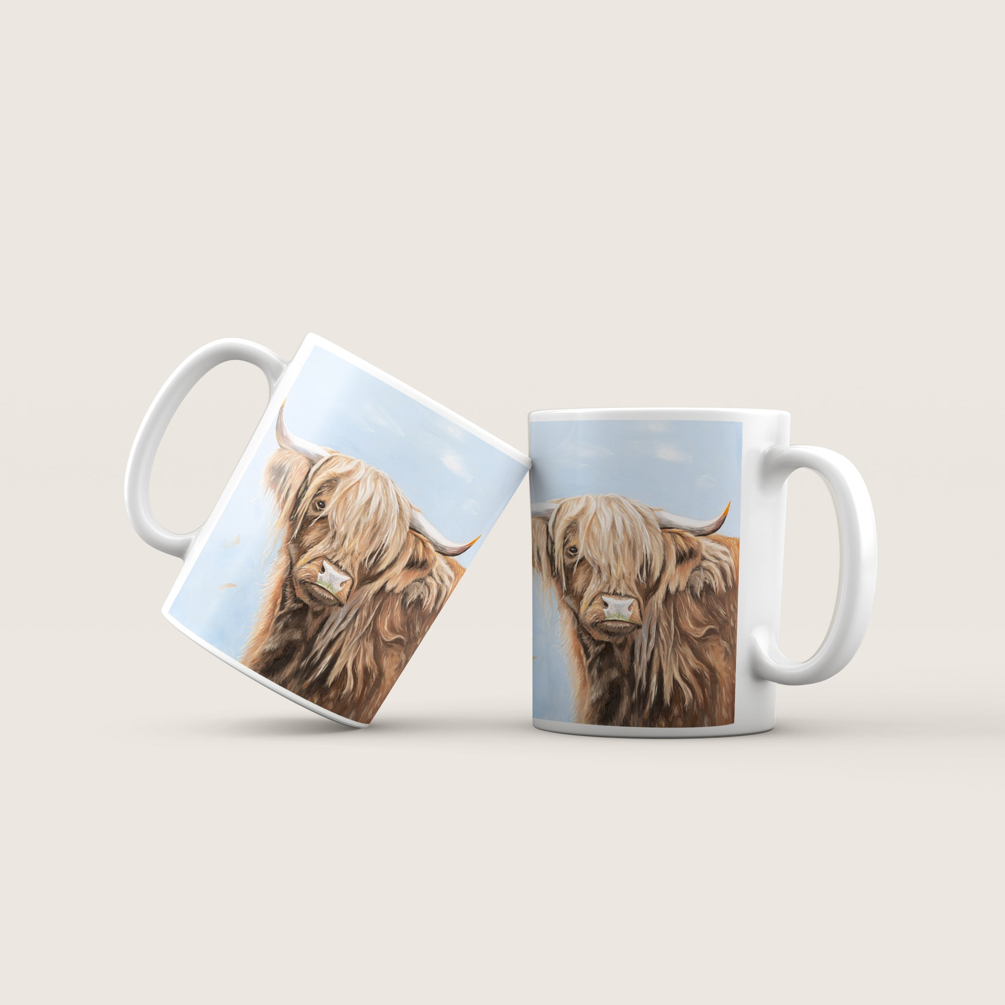 Highland cow mug - Fern