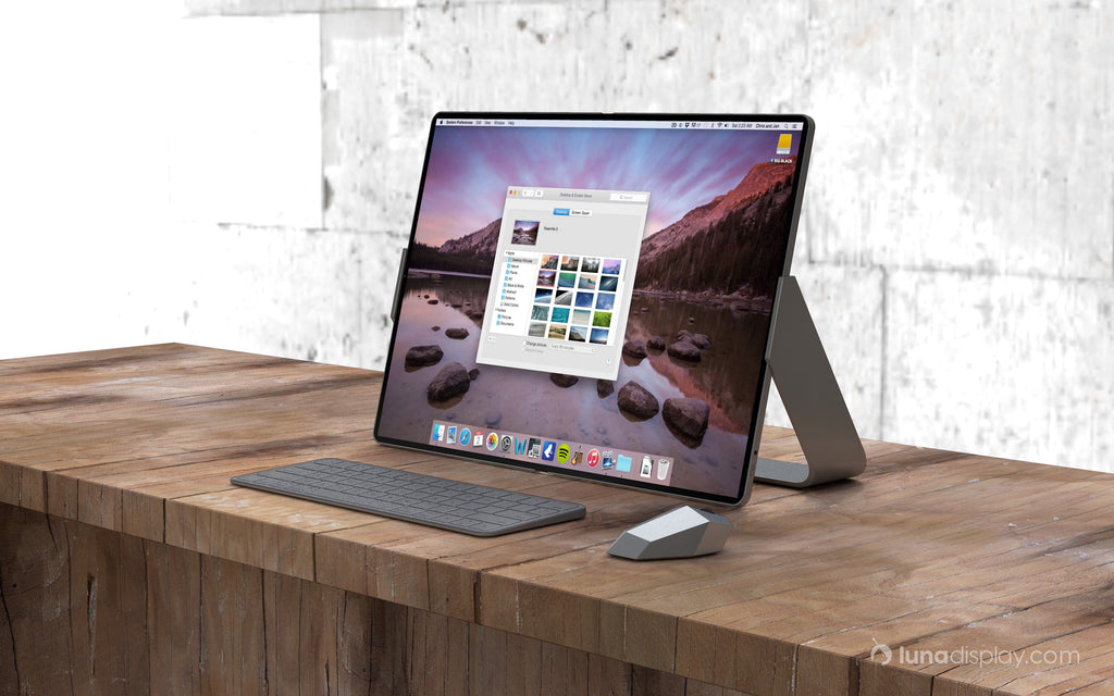 Mac foldable screen concept design, front wide view