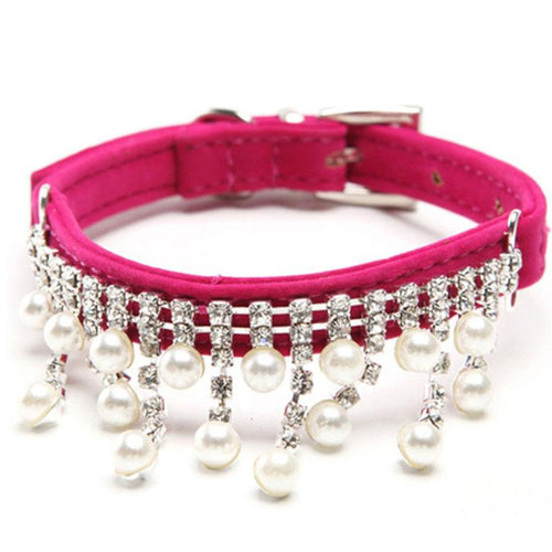 Female Pets Handmade Collars with Pendent