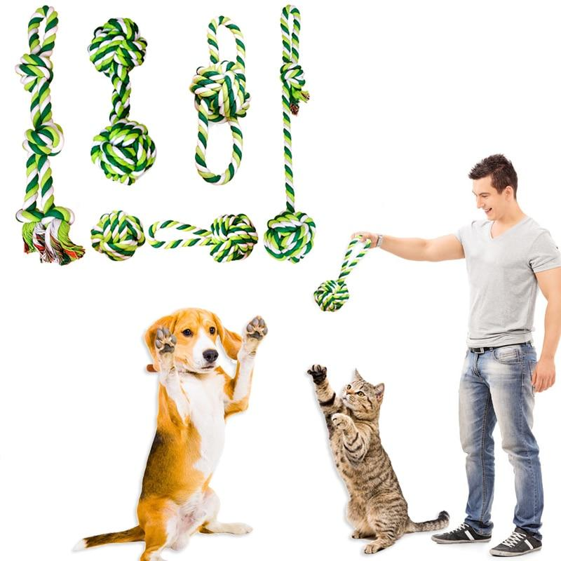 Dog Toy Puppy Chew Tooth Cleaning Cotton Rope