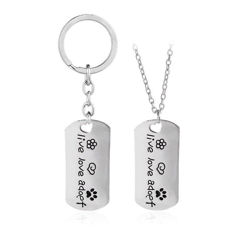 Pet Lover Pendent Necklaces pet paw footprint
