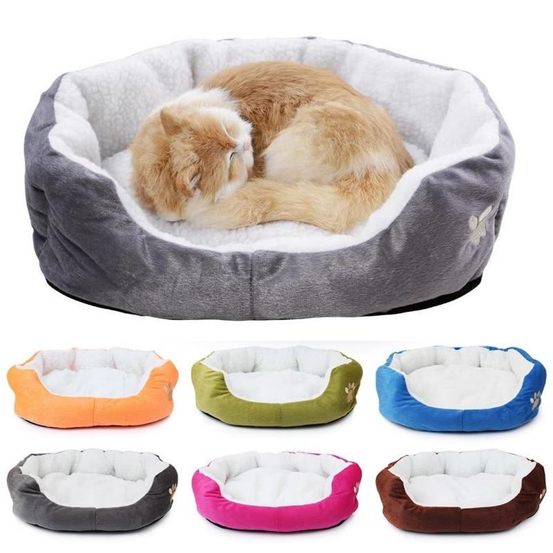 Soft Plush Lounger Dog Bed For Small Dogs